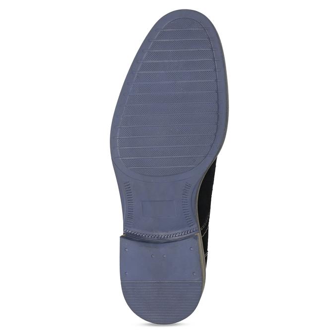 Granatowe skórzane półbuty zprzeszyciami bata, niebieski, 823-9613 - 18