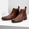 Brązowe skórzane obuwie typu chelsea bata, brązowy, 896-3400 - 16