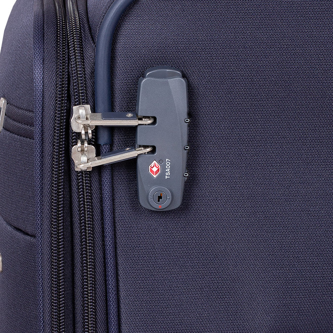 Mała miękka granatowa walizka na kółkach samsonite, niebieski, 960-9040 - 15