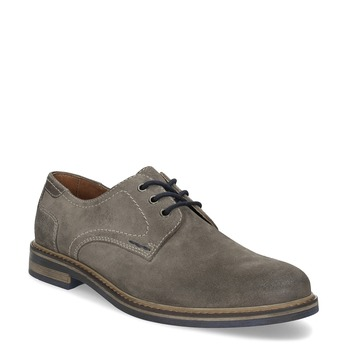 Nieformalne skórzane półbuty męskie bata, szary, 823-8613 - 13