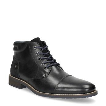 Skórzane obuwie męskie za kostkę bata, czarny, 826-6611 - 13