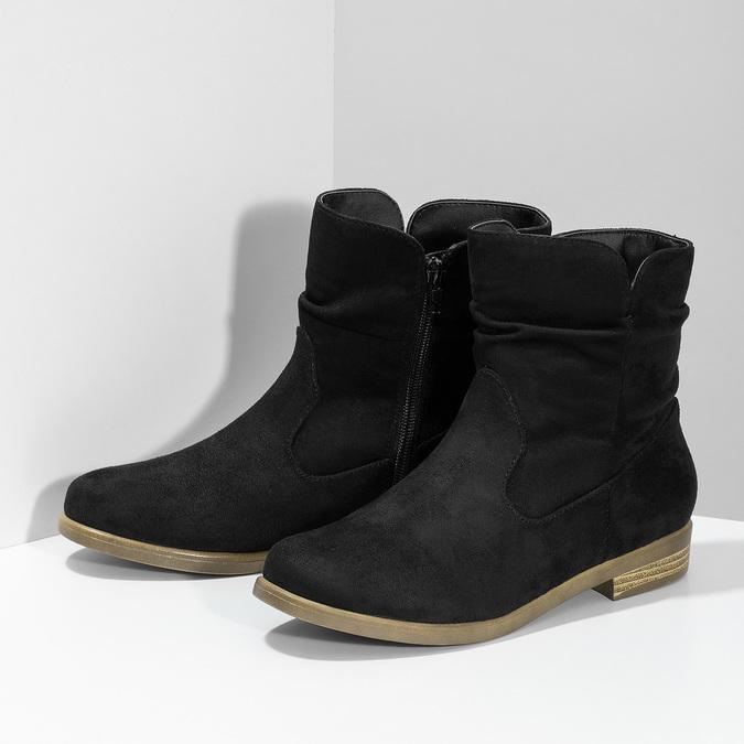 Botki damskie bata, czarny, 599-6614 - 16