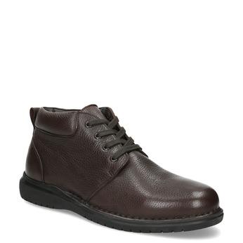 Skórzane obuwie męskie za kostkę comfit, brązowy, 896-4701 - 13