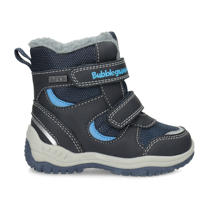 Zimowe buty dziecięce zfuterkiem bubblegummer, niebieski, 199-9602 - 19